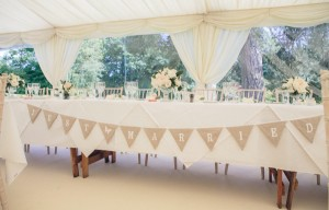 Sample marquee set-up
